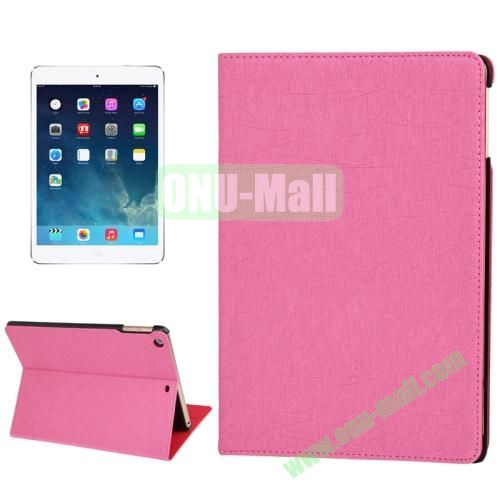 Lines Texture Leather Cover Case for iPad Air with 3 Gears & Holder & Sleep  Wake-up Function (Pink)