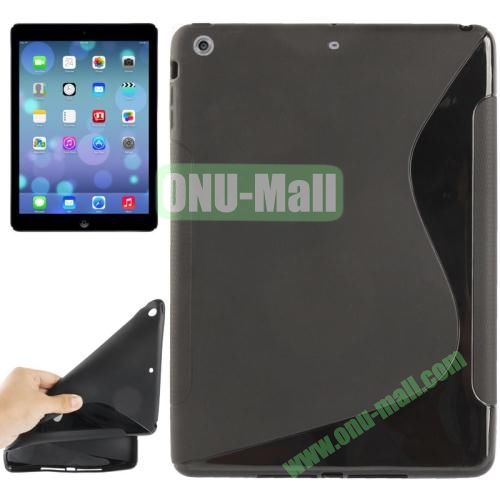 S Line Anti-skid Frosted TPU Case for iPad Air (Black)