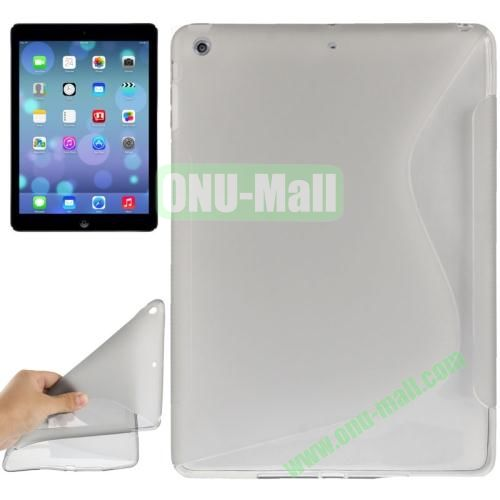 S Line Anti-skid Frosted TPU Case for iPad Air (Grey)