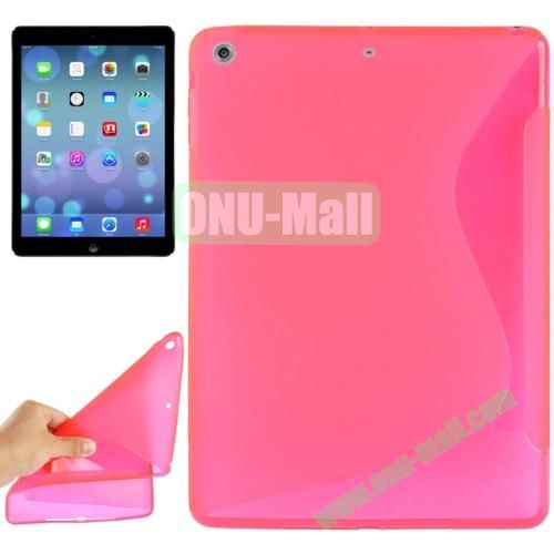 S Line Anti-skid Frosted TPU Case for iPad Air (Rose)