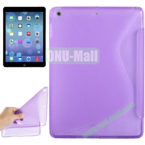 S Line Anti-skid Frosted TPU Case for iPad Air (Purple)