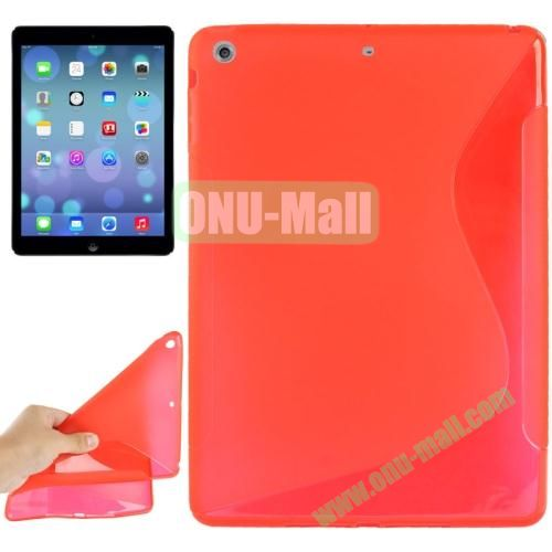 S Line Anti-skid Frosted TPU Case for iPad Air (Red)
