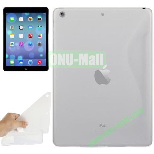 S Line Anti-skid Frosted TPU Case for iPad Air (Transparent)