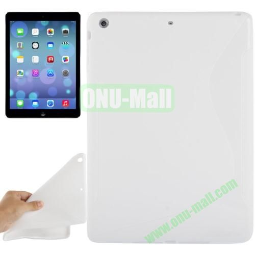 S Line Anti-skid Frosted TPU Case for iPad Air (White)