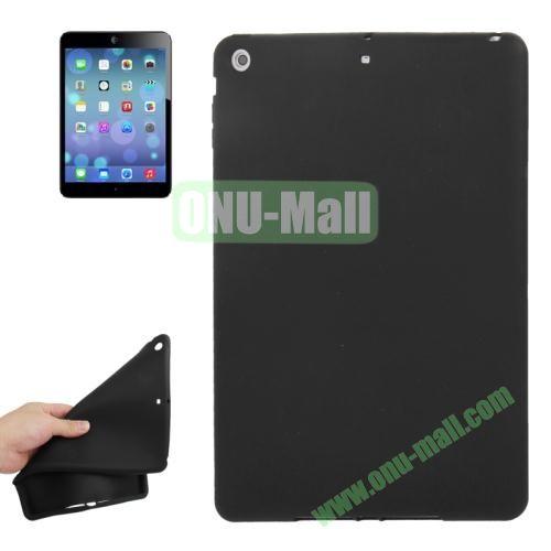 Anti-scratch Flexible Silicone Case for iPad Air (Black)