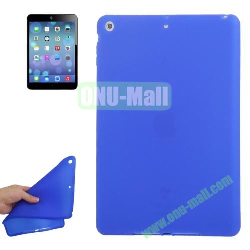 Anti-scratch Flexible Silicone Case for iPad Air (Blue)