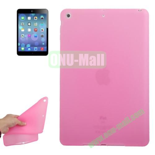 Anti-scratch Flexible Silicone Case for iPad Air (Pink)