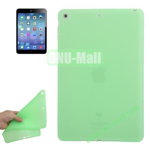 Anti-scratch Flexible Silicone Case for iPad Air (Green)