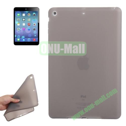 Anti-scratch Flexible Silicone Case for iPad Air (Grey)