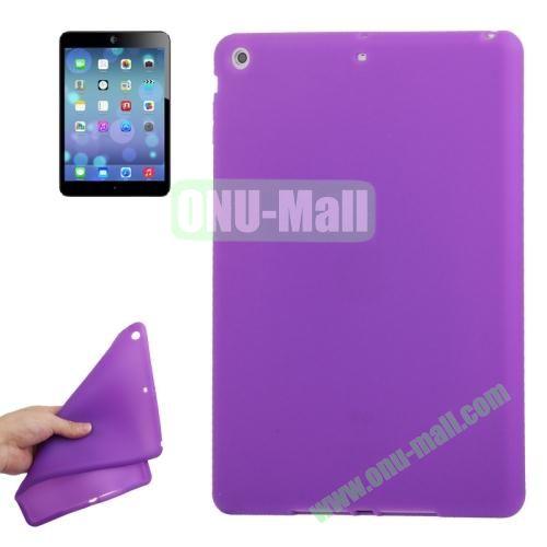Anti-scratch Flexible Silicone Case for iPad Air (Purple)