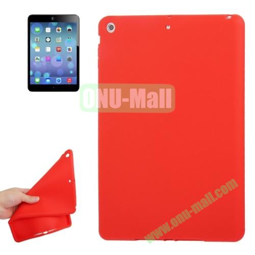 Anti-scratch Flexible Silicone Case for iPad Air (Red)
