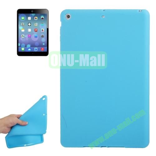 Anti-scratch Flexible Silicone Case for iPad Air (Light Blue)