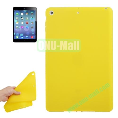 Anti-scratch Flexible Silicone Case for iPad Air (Yellow)
