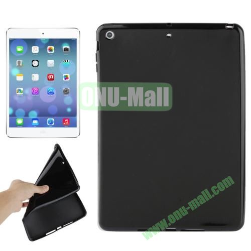 Smooth Surface TPU Protective Case for iPad Air (Black)
