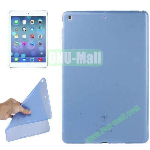 Smooth Surface TPU Protective Case for iPad Air (Light Blue)