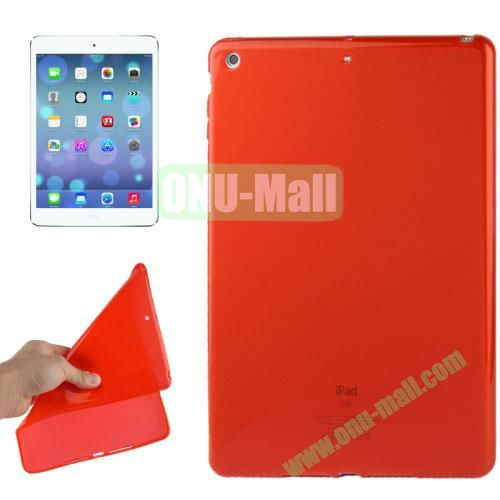 Smooth Surface TPU Protective Case for iPad Air (Red)