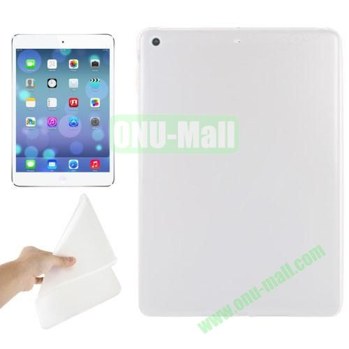 Smooth Surface TPU Protective Case for iPad Air (Transparent)