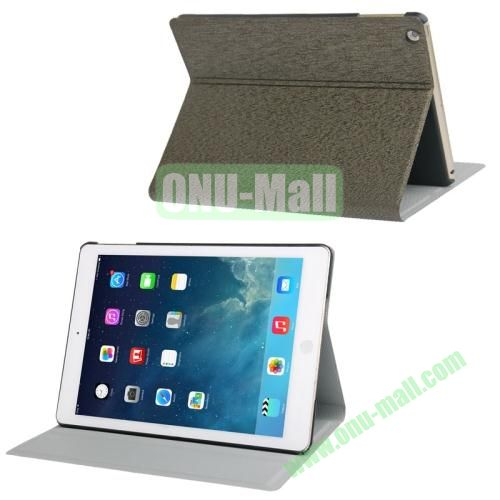 Oracle Texture Leather Cover for iPad Air with 3 Gears Holder  (Tarmac)