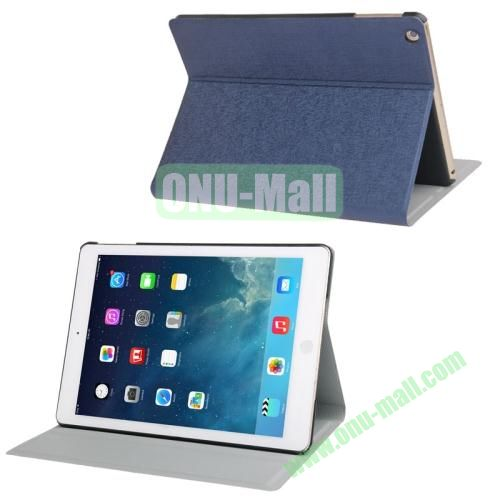 Oracle Texture Leather Cover for iPad Air with 3 Gears Holder  (Dark Blue)