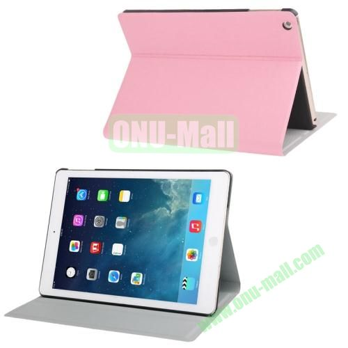 Oracle Texture Leather Cover for iPad Air with 3 Gears Holder  (Pink)