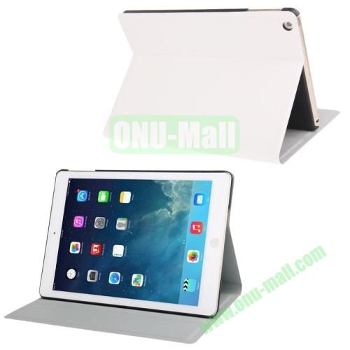Oracle Texture Leather Cover for iPad Air with 3 Gears Holder  (White)