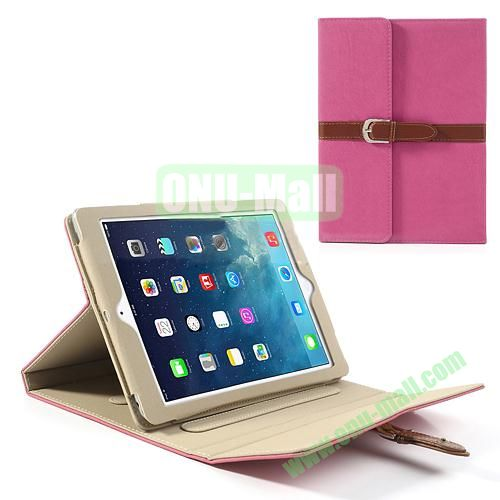 Classical Retro Style Leather Case for iPad Air with Sleep Function (Rose)