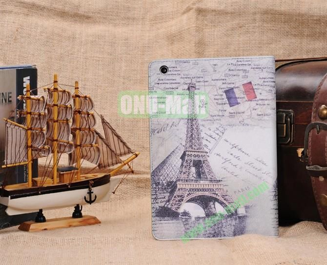 Eiffel Tower Stand Leather Case Cover for iPad Mini
