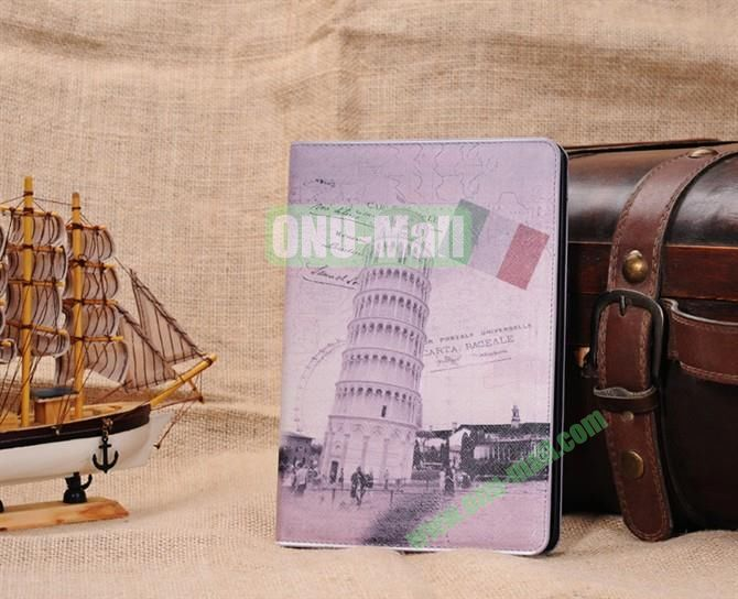 The Leaning Tower of Pisa Stand Leather Case Cover for iPad Mini