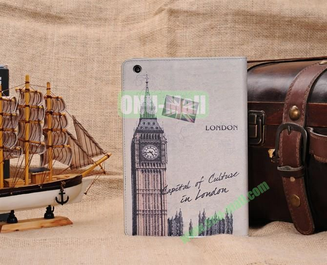 Big Ben Stand Leather Case Cover for iPad Mini