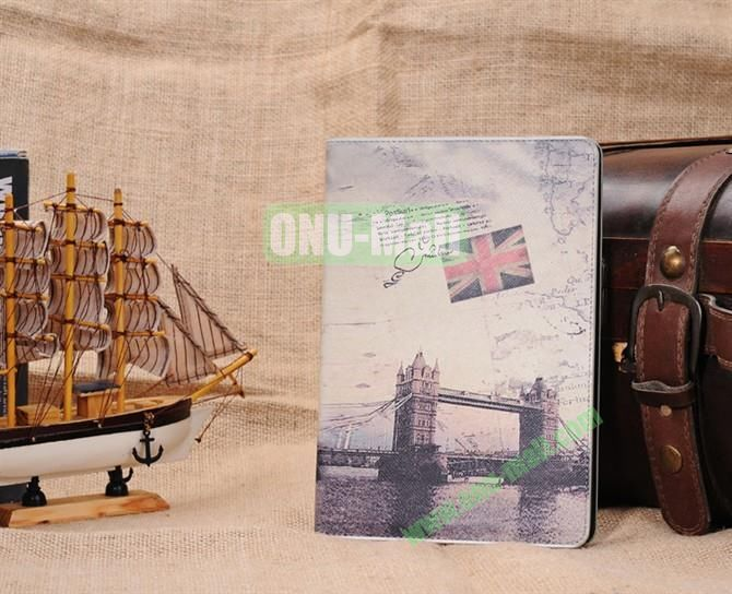 London Tower Bridge Stand Leather Case Cover for iPad Mini