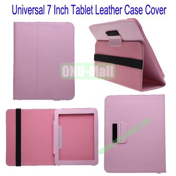 Universal 7 Inch Tablet Leather Case Cover for iPad Mini,Google Nexus 7,Asus Fonepad,Lenovo A3000 etc(Pink)