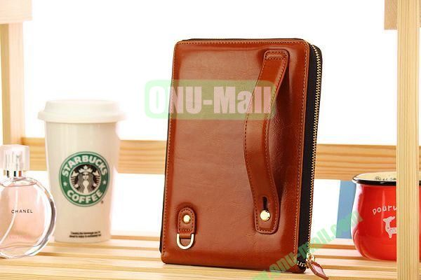 New Arrivel Elegant Fashionable Matilanuo Hand Bag Leather Case Genuine Leather Cover with Zipper for iPad Mini (Brown)