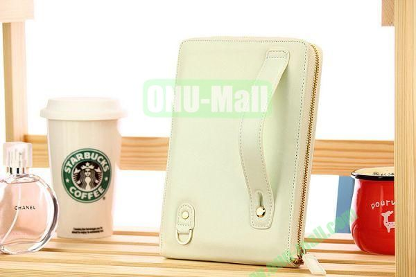 New Arrivel Elegant Fashionable Matilanuo Hand Bag Leather Case Genuine Leather Cover with Zipper for iPad Mini (White)