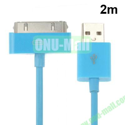 2m USB Cable for iPhone 4 & 4S, iPhone 3GS3G, New iPad (iPad 3)iPad 2iPad, iPod Touch(Blue)