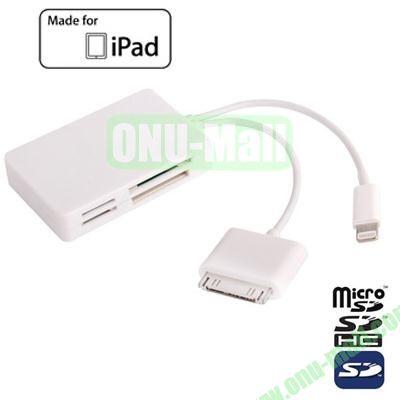8 Pin USB OTG Connection Kit for iPad 2iPad 3iPad 4 iPad Mini with SD (HC)Mini SDMMCMMCMSTF Card Reader Function