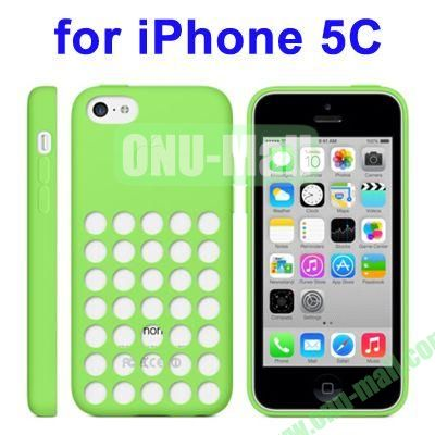 New Arrival TPU Offical Style Case for iPhone 5C(Green)
