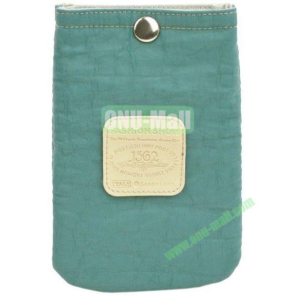 4.3 inch Nylon Cloth Pouch Bag with Press Stud (Light Blackish Green)