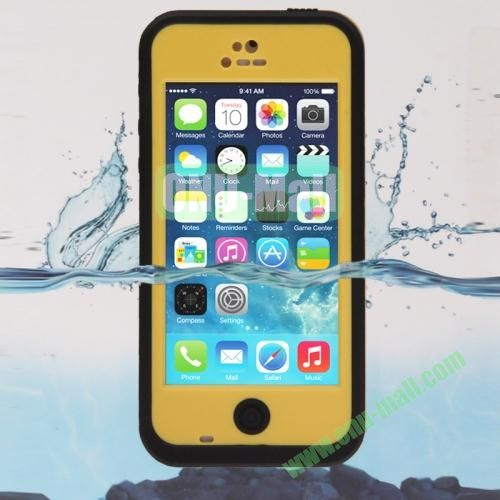 IPX68 ABS Material Snow-proof Shock-proof Waterproof Case for iPhone 5C (Yellow)