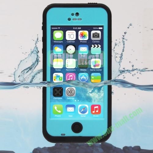 IPX68 ABS Material Snow-proof Shock-proof Waterproof Case for iPhone 5C (Light Blue)