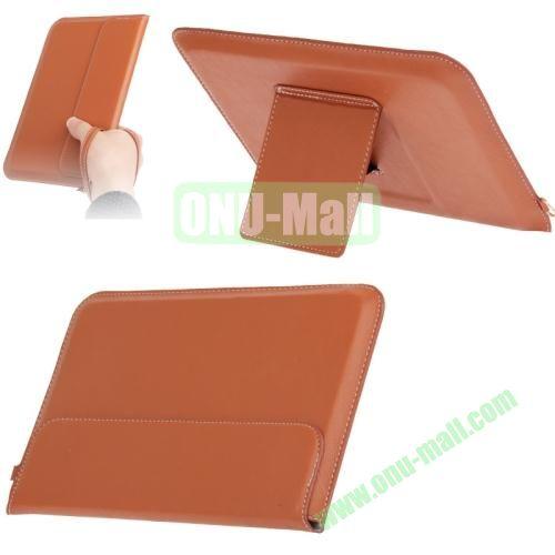 Business Style Leather Carry Bag for iPad Mini and iPad Mini Retina  iPad Mini 3 with Lanyard + Holder (Brown)