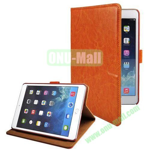 Crazy Horse Texture Stand Leather Case for iPad Mini Retina  iPad Mini 3 With Credit Card Slots (Brown)