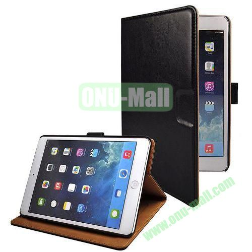 Crazy Horse Texture Stand Leather Case for iPad Mini Retina  iPad Mini 3 With Credit Card Slots (Black)