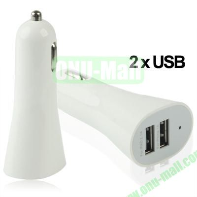 Dual USB Car Charger for iPhone 5 & 5CiPhone 4 & 4SiPhone 3GS & 3GiPod TouchNew iPad (iPad 3)iPad 2