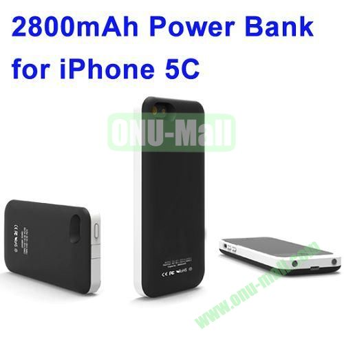 2800mAh Backup Battery Charger for iPhone 5C(Black)