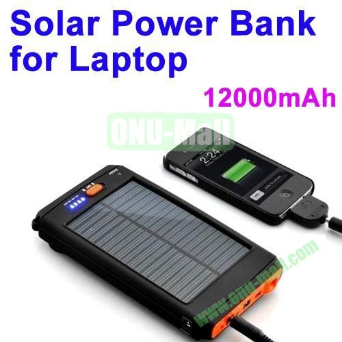 12000mAh Mobile Power Bank Solar Charger for Laptop and Mobile Phones