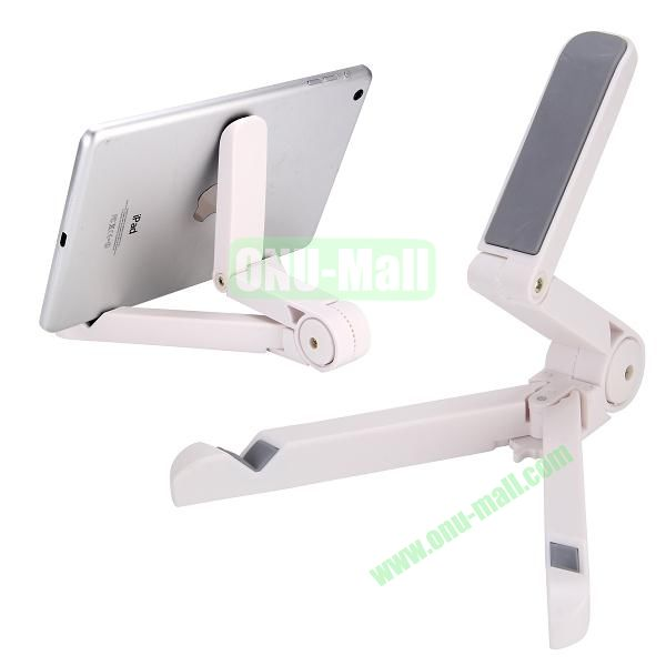 Portable Universal Fold-up Stand Holder for iPad, Galaxy Tab, Kindle Fire Other 7-10 inch Tablet PC (White)