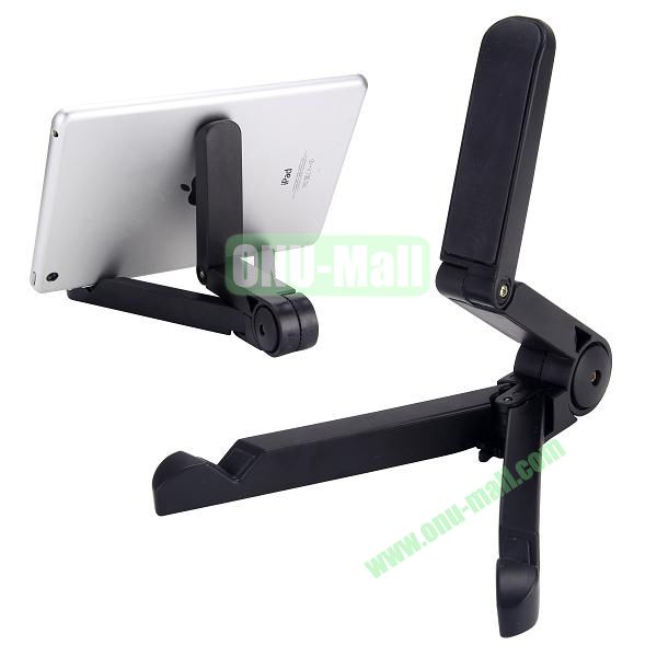 Portable Universal Fold-up Stand Holder for iPad, Galaxy Tab, Kindle Fire Other 7-10 inch Tablet PC (Black)