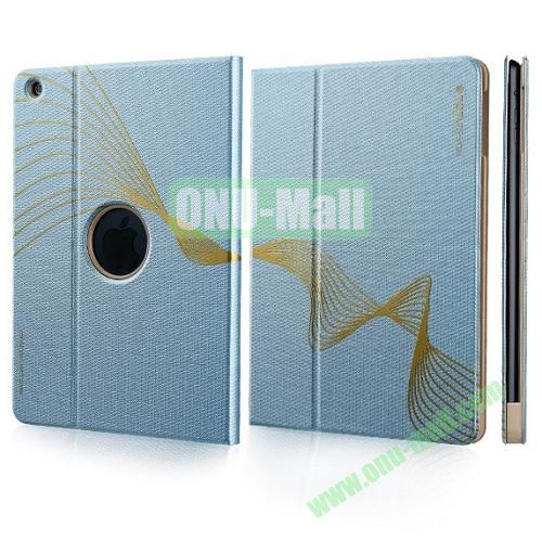 TOTU Design Golden Series Smart Cover PC and PU Leather Case for iPad Air (Blue)
