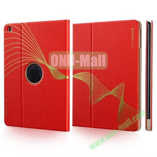 TOTU Design Golden Series Smart Cover PC and PU Leather Case for iPad Air (Red)