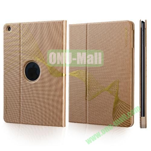 TOTU Design Golden Series Smart Cover PC and PU Leather Case for iPad Air (Gold)